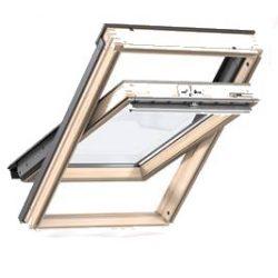 Velux GLL 1061B billenő alsó kilincses tetőtéri ablak fa