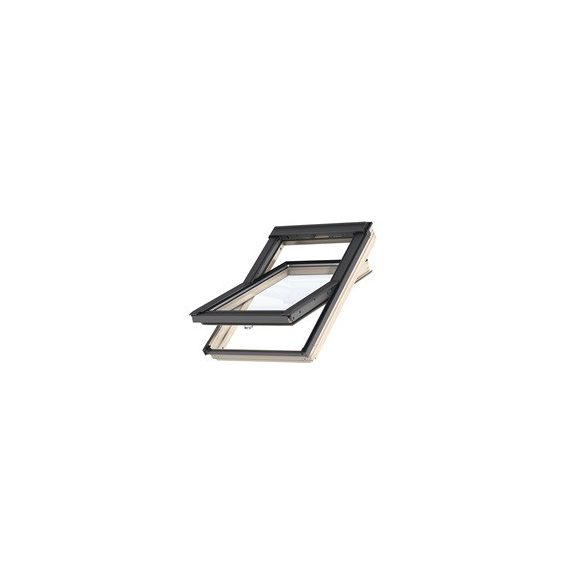 Velux GLU B billenő alsó kilincses tetőtéri ablak műanyag bevonatú fa 94x140 cm