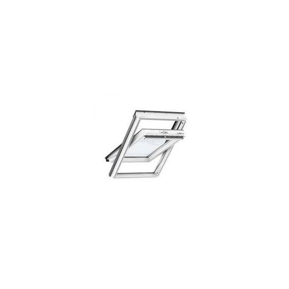 Velux GLU billenő felső kilincses tetőtéri ablak műanyag bevonatú fa 78x160 cm