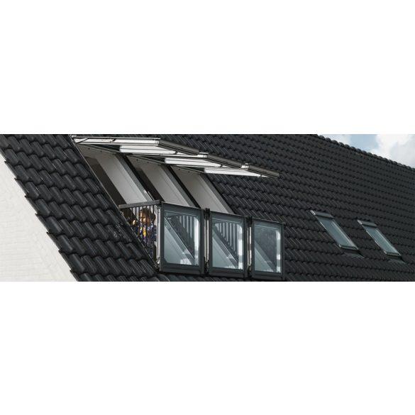 Velux GDL CABRIO fehérre festet fenyő tetőerkély 94x252 cm