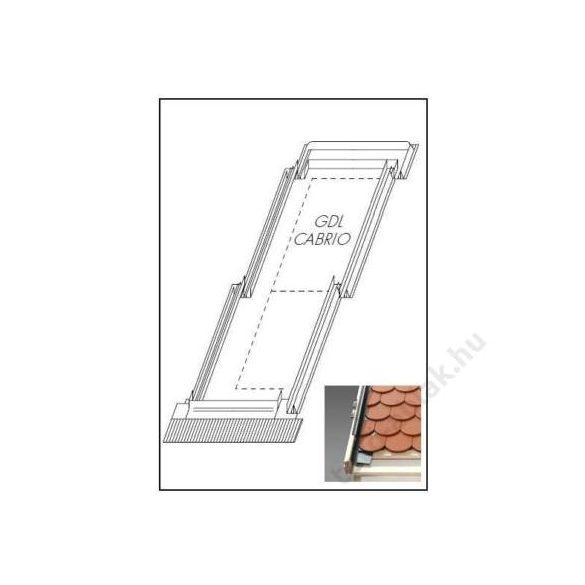 Velux GDL CABRIO tetőerkély burkolókeret profilos 114x252 cm